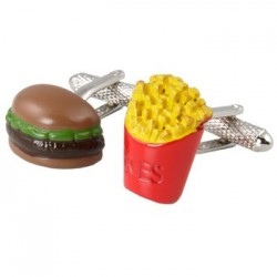 Burger and Chips Cufflinks