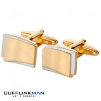 Eden - Brushed Gold Cufflinks