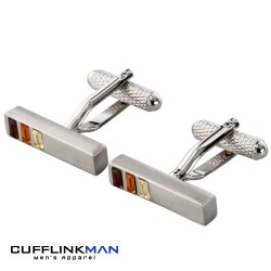 Bali Three Crystal Bar Cufflinks