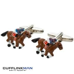 Quality Racing Horse Cufflinks |Cool Horse and Jockey Racing Cufflinks