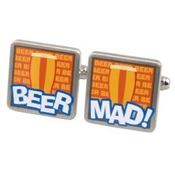 Beer Mad Cufflinks