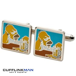 Simpsons Homer Relaxing with Beer Cufflinks