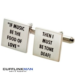 Music / Tone Deaf Cufflinks