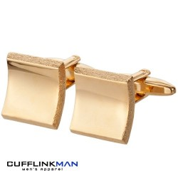 Arched Illusion Cufflinks - Gold Edition