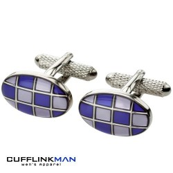 Retro Pave Purple Cufflinks