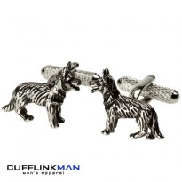 Alsatian Dog Cufflinks