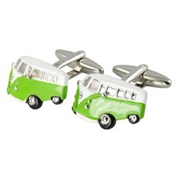 Green Campervan Cufflinks