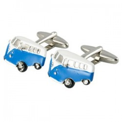 Blue Campervan Cufflinks