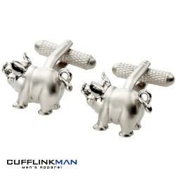 Pot Belly Pig Cufflinks