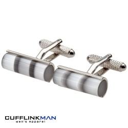 Grey Catseye Cylinder Cufflinks