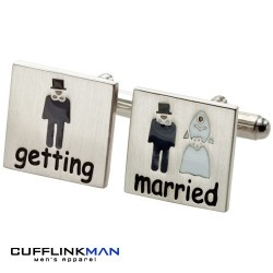 Cartoon Getting Married Cufflinks