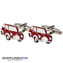 Red Micro Mini Cufflinks