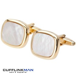 Dominant Dome Mother Of Pearl Cufflinks