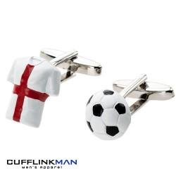 England Football - St George's Cross Shirt and Football Cufflinks