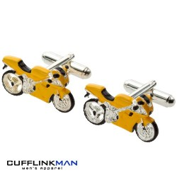"Need For Speed ""Yellow"" Superbike Cufflinks"