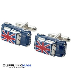Blue Union Jack 3D Mini Cufflinks