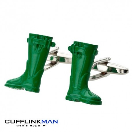 Weekend Wellies Cufflinks- Wellington Boots Cufflinks