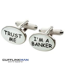 Trust me I'm A Banker Cufflinks