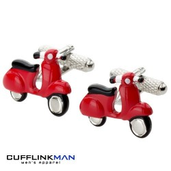 Scarlet Scooter Cufflinks