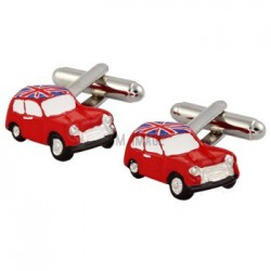 Red Mini Cooper Cufflinks