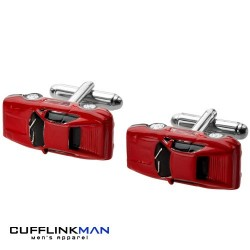 Red Sports Car Cufflinks