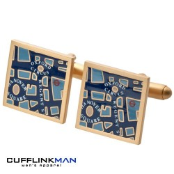 Central London Map Cufflinks