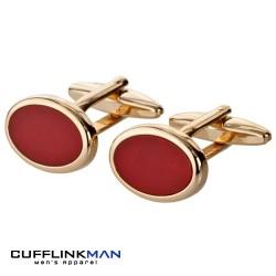 Gold Cornelian Cufflinks