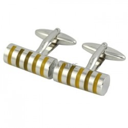 Citron Barrel Cufflinks