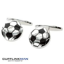 Football Fever - Silver Plated Cufflinks