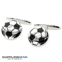 Football Fever - Silver Plated Cufflinks