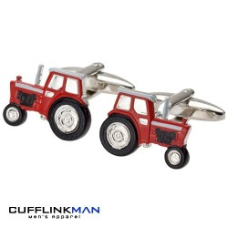 Outstanding In Your Field - Red Tractor Cufflinks
