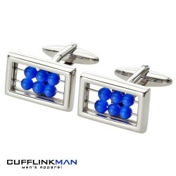 Blue Abacus Cufflinks