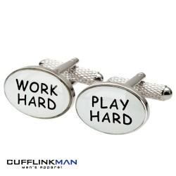 Work Hard - Play Hard Cufflinks