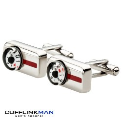 Red Stripe Compass Cufflinks