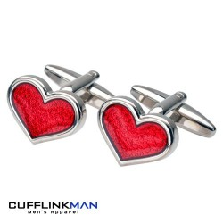 Romantic Heart Cufflinks