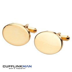 Simply Stunning Cufflinks - Gold Plated Cufflinks