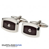 Juno - Black crystal Cufflinks