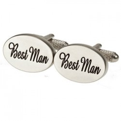 Oval Italics - Best Man Cufflinks