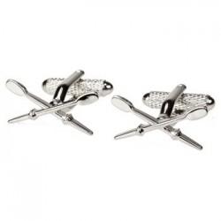 Crossed Oars - Rowing Cufflinks