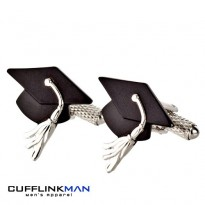 Graduation Mortar Board Cufflinks