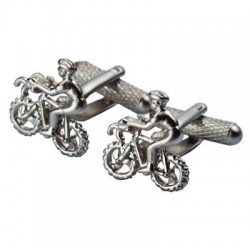 Cyclist Racer Bike Cufflinks