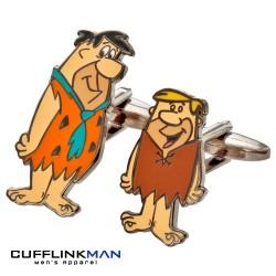 Fred Flinstone and Barney Rubble Cufflinks - Flinstones Cufflinks