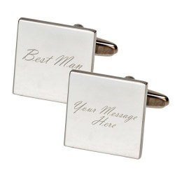 Personalised - Square Best Man Cufflinks