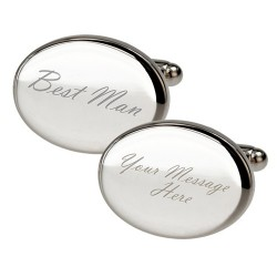 Personalised - Oval Best Man Cufflinks