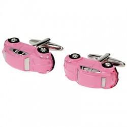 Pink Beetle Cufflinks
