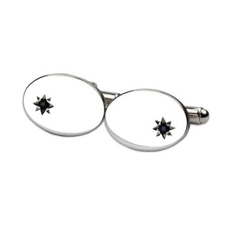 Esquire - 925 Silver with Sapphire Star Cufflinks
