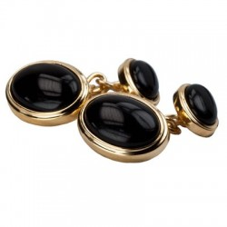 James Kinross - Onyx Gold plated Chain Cufflinks