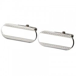 ESQUIRE Barley Sterling Silver Rosso Cufflinks