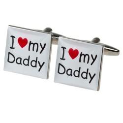 I Love my Daddy Cufflinks