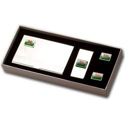 Welsh Flag Cufflinks Gift Set